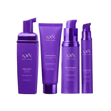 NXN Zero Shine System 30 Day Kit For Oily and Combination Skin