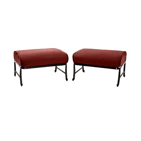 ... Oceana 6 Piece Outdoor Patio Set W/Stone Top Table  Red ...
