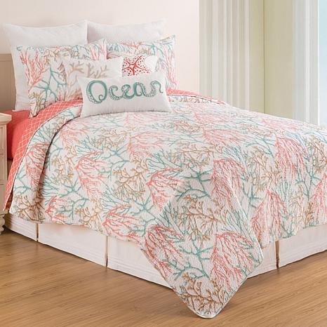 Oceanaire Seafoam Full/Queen Quilt Set