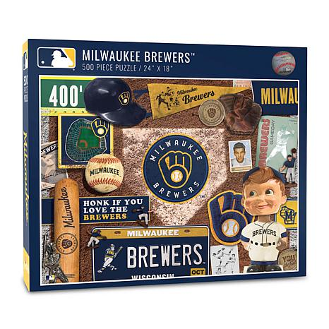 Officially Licensed MLB Milwaukee Brewers Retro 500-Piece Puzzle