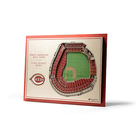 Officially Licensed MLB StadiumView 3D Wall Art - Cincinnati Reds
