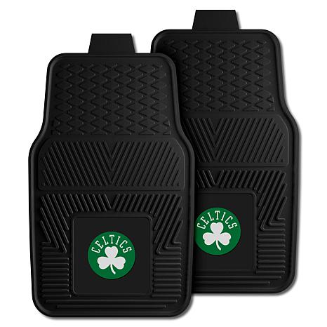 "Officially Licensed NBA 2pc Car Mat Set 17"" x 27"" - Boston Celtics"