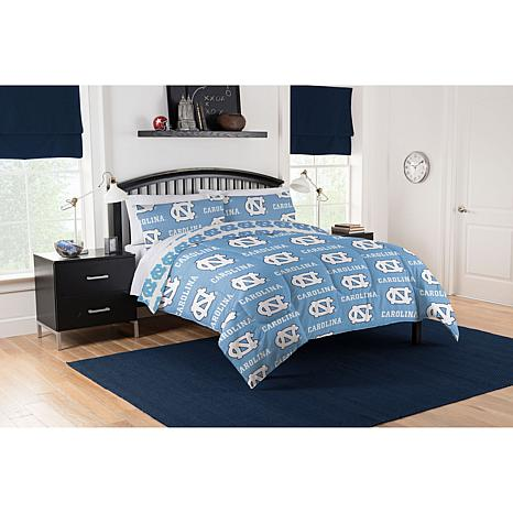 Officially Licensed Ncaa Queen Bed In A Bag Set Unc Tar