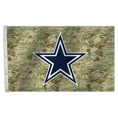 "Officially Licensed NFL 3"" x 5"" Camo Flag - Cowboys"