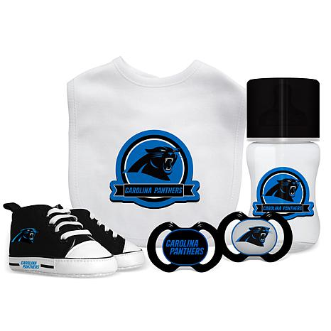5be133bc new! Officially Licensed NFL 5-piece Baby Gift Set - Carolina Panthers