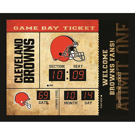 Officially Licensed NFL Bluetooth Scoreboard Wall Clock - Browns