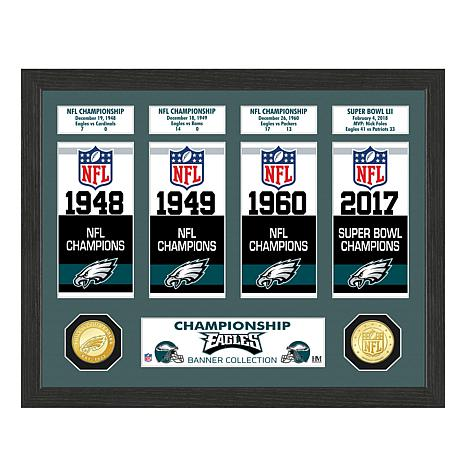 Officially Licensed NFL Eagles World Championship Banner Collection