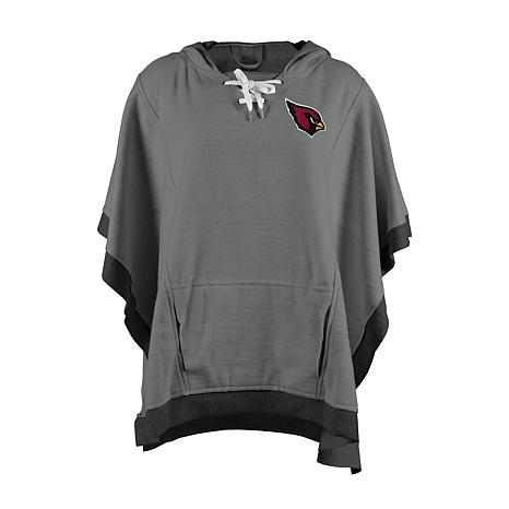online retailer a0865 56283 Officially Licensed NFL Heathered Hoodie Poncho - Arizona Cardinals