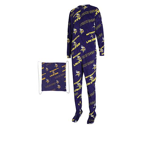 Officially Licensed NFL Keystone Footed Union Suit  by Concepts Sport