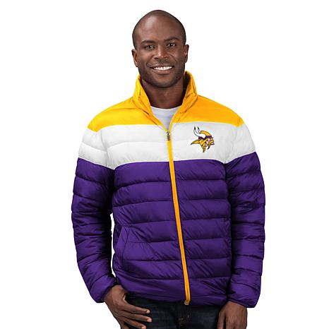 Officially Licensed NFL Men's Cold Front Quilted Puffer Jacket by Glll