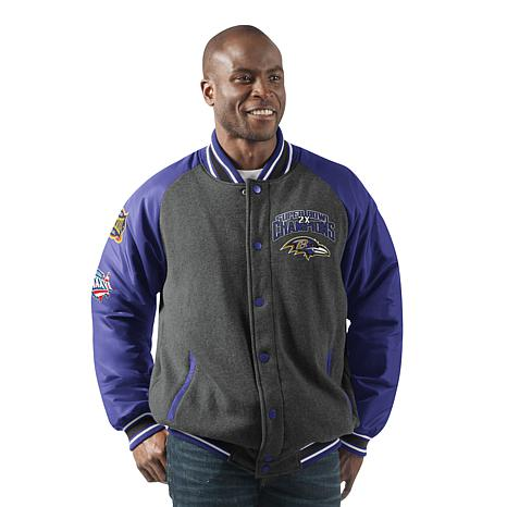 purchase cheap 14a57 ae9b8 Officially Licensed NFL Men's Power Hitter Varsity Jacket by Glll - Ravens