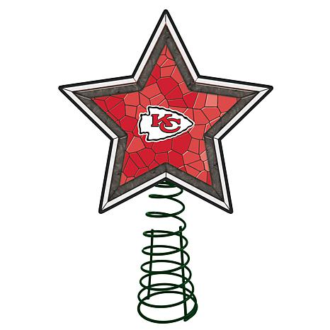 Officially Licensed NFL Mosaic Tree Topper - Chiefs
