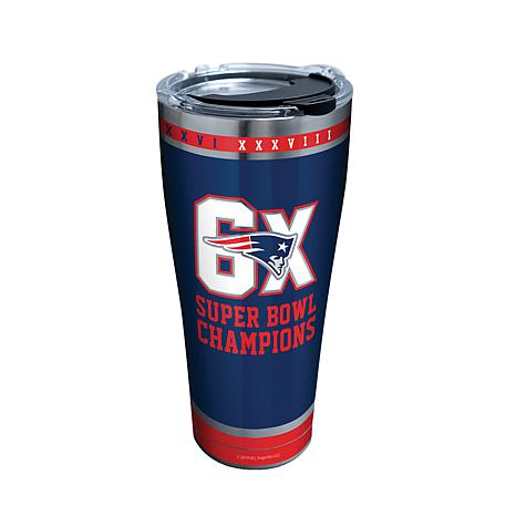 Officially Licensed NFL Patriots 6-time Super Bowl Champ Tumbler w/Lid