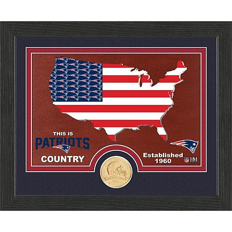 "Officially Licensed NFL Patriots ""Country"" Bronze Coin Photo Mint"