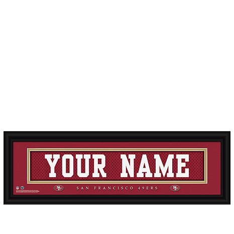 ea5697cbd Officially Licensed NFL Personalized Name Plate by Photo File - 49ers -  8182071