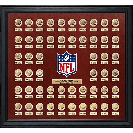 Officially Licensed NFL Super Bowl Game Flip Coin Replica Collection
