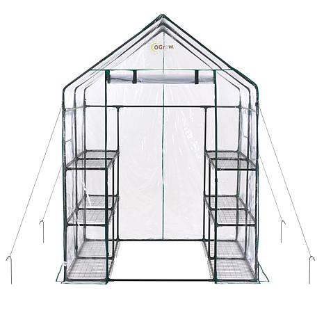 Ogrow 6-Tier Portable Walk-In Greenhouse with 12 Shelves