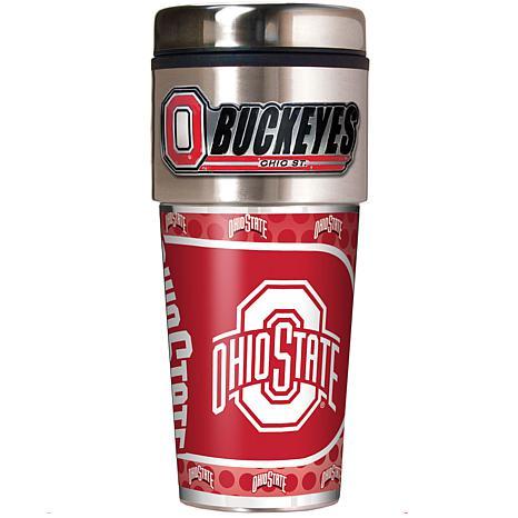 Ohio State Buckeyes Travel Tumbler w/ Metallic Graphics and Team Logo