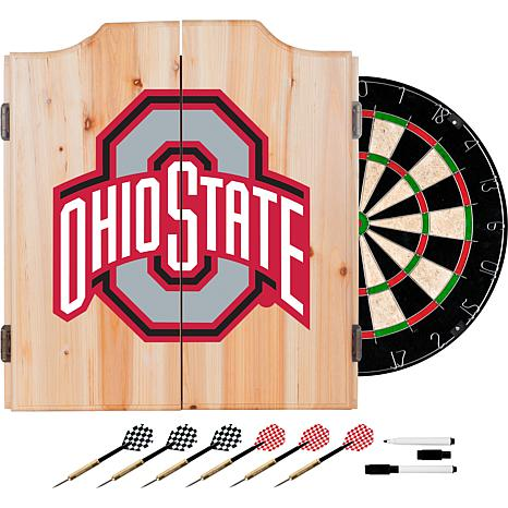 Ohio State University Dart Cabinet w/ Darts and Board