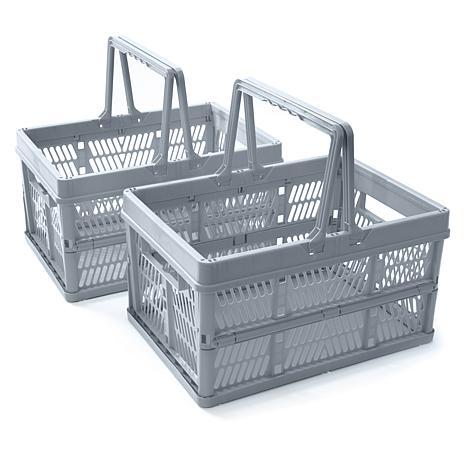 Organizeme Set of 2 Folding Storage Baskets