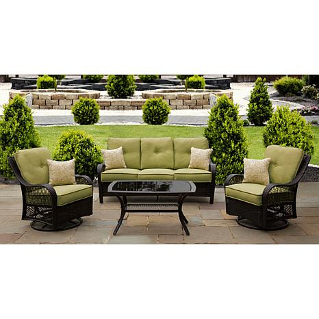 Orleans 4 piece outdoor furniture collection 7461256 hsn for Outdoor furniture new orleans