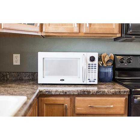 Oster 1 1 Cu Ft Digital Microwave Oven White 7990067