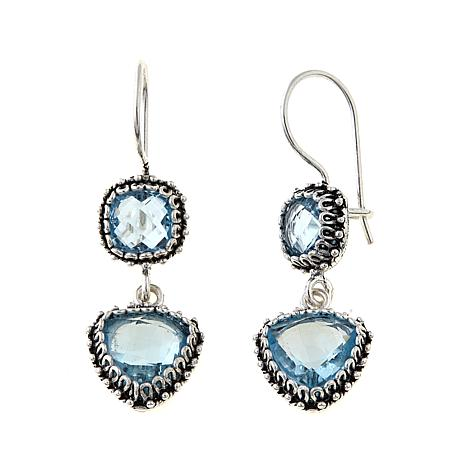 Ottoman Silver Jewelry 10.5ctw Sky Blue Topaz Earrings