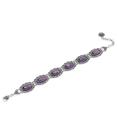 Ottoman Silver Jewelry 16.8ctw Amethyst Bracelet