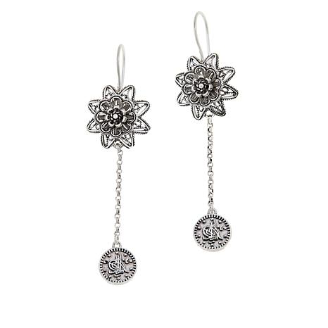 Ottoman Silver Jewelry Collection Filigree Coin Drop Earrings