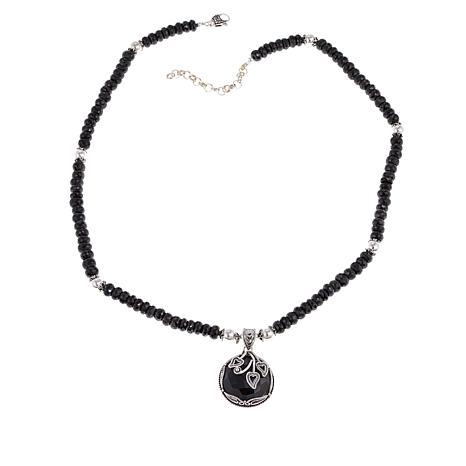 "Ottoman Silver Jewelry Collection Spinel Bead 18"" Necklace"