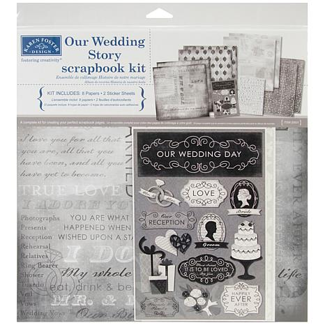"Our Wedding Story 12"" x 12"" Scrapbook Page Kit"