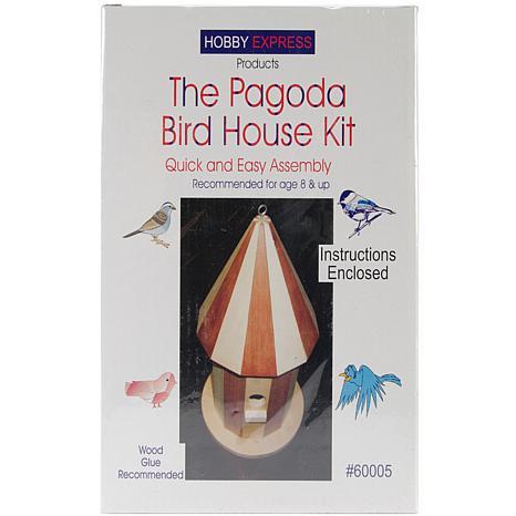 Pagoda Wood Bird House Kit - Unfinished