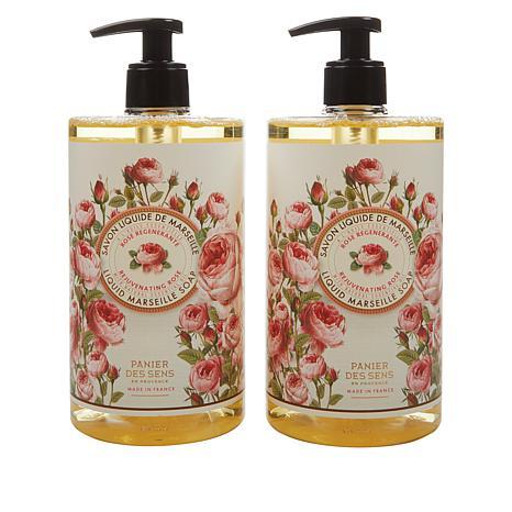 Panier des Sens 2-pack Rose Liquid Marseille Soap