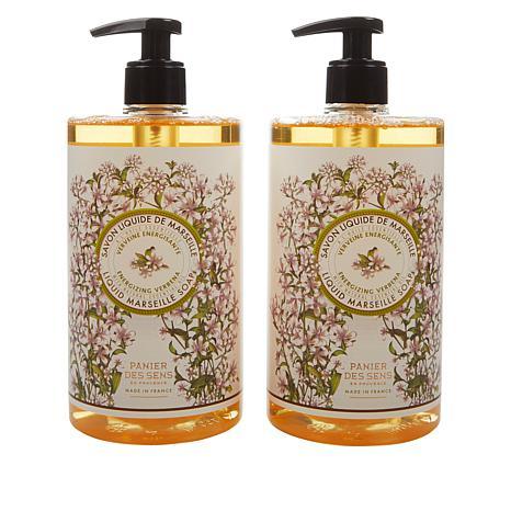 Panier des Sens 2-pack Verbena Liquid Marseille Soap