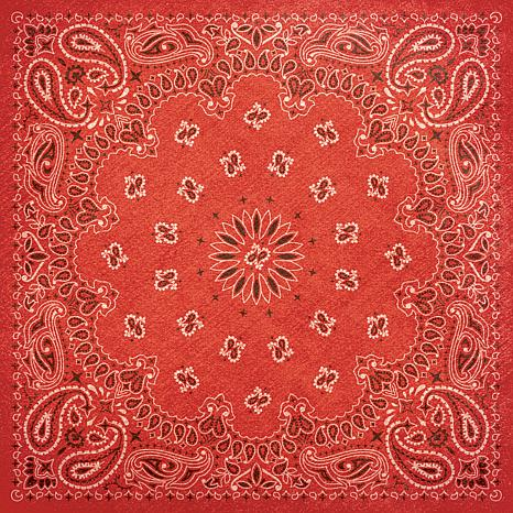 "Paper House 12"" x 12"" Western Paper - Red Bandana"