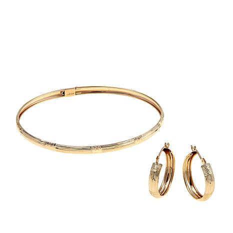 amazon wide bracelet polished com inches bangle tube bangles dp gold round