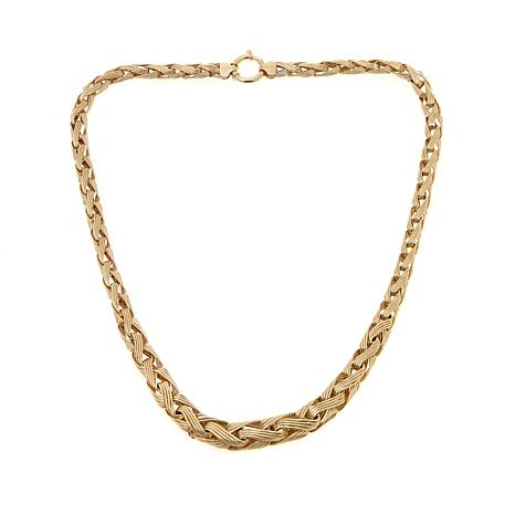 "Passport to Gold 14K Bold Wheat Chain 18"" Necklace"