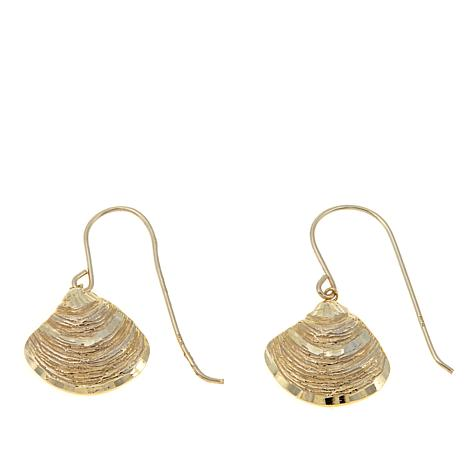 Passport to Gold 14K Diamond-Cut Shell Drop Earrings
