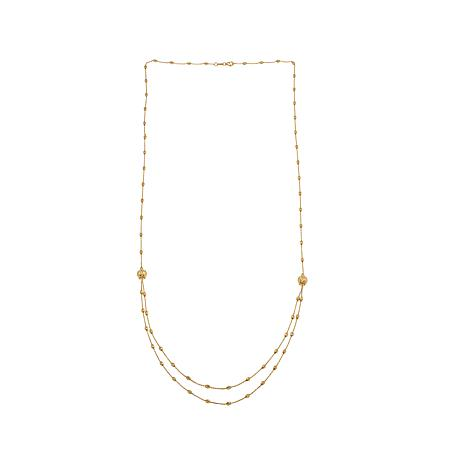 "Passport to Gold 14K Diamond-Cut ""Waterfall"" Necklace"