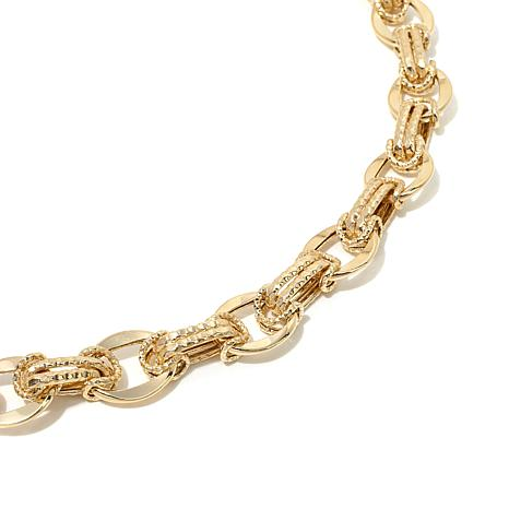 chains products chic oval sapphire roberto necklaces and shine enlarged link coin chain jewelry necklace