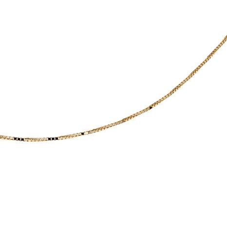 "Passport to Gold 14K Gold 0.6mm Box Chain 16"" Necklace"
