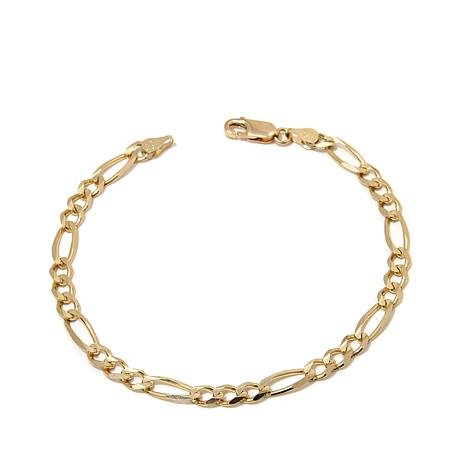 "Passport to Gold 14K Gold 4.5mm Figaro-Link 8"" Bracelet"