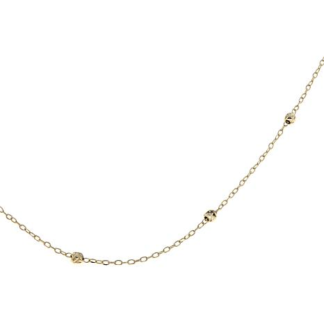 "Passport to Gold 14K Gold Diamond-Cut Bead 20"" Necklace"
