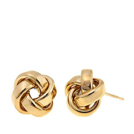 "Passport to Gold 14K ""Love Knot"" Stud Earrings"