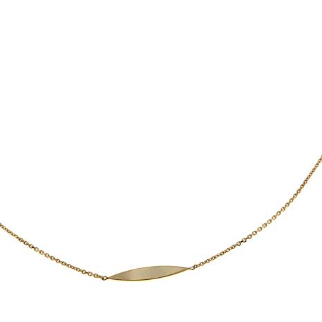 "Passport to Gold 14K Marquise Station 36"" Necklace"