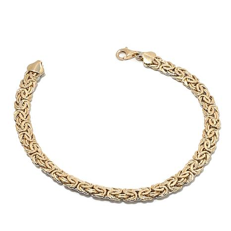 "Passport to Gold 14K Reversible Byzantine 8"" Bracelet"