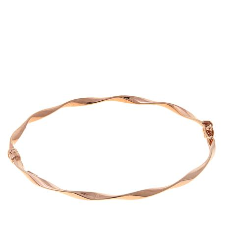 Passport to Gold 14K Rose Gold Twisted Tube Bangle