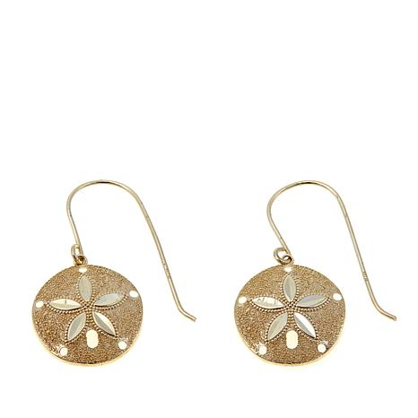 Pport To Gold 14k Sand Dollar Drop Earrings