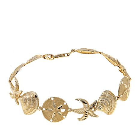 "Passport to Gold 14K Sea Life 7"" Bracelet"