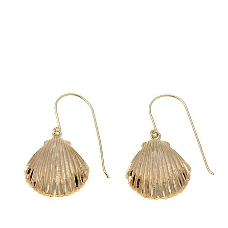 Passport to Gold 14K Seashell Drop Earrings